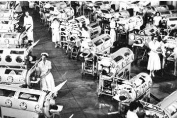 Un'immagine dell'epidemia di polio che devastò America ed Europa negli anni '40