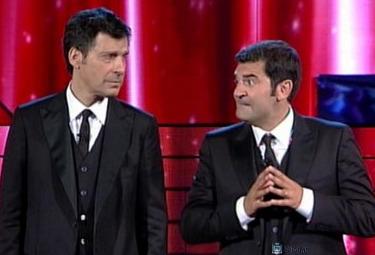 Fabrizio Frizzi e Max Giusti in Attenti a quei due