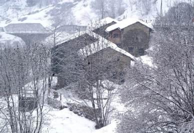 Il villaggio Furfulera sotto la neve