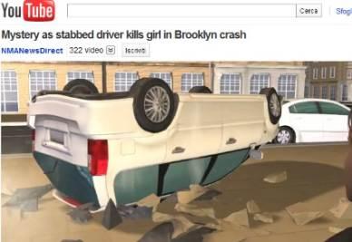Una riproduzione dell'incidente