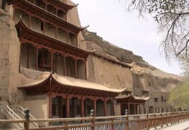 L'esterno delle Grotte dei 100 Budda
