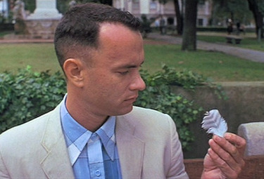 Tom Hanks in Forrest Gump, di Robert Zemeckis (1994)