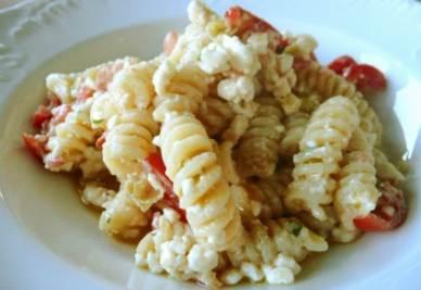 L'insalata di pasta della Trattoria Postiglione di Credera Rubbiano (Cr)