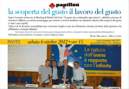 L'invito all'evento del 6 ottobre