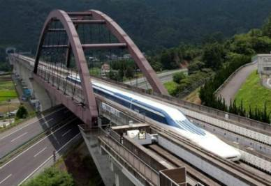Treno Maglev con elettromagneti superconduttori (Foto Central Japan railways co.)