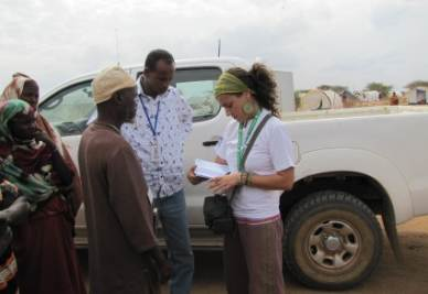 Maria Li Gobbi working in the Dadaab refugee camp in Kenya