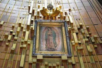 Il mantello su cui è impressa l'immagine della Vergine Maria