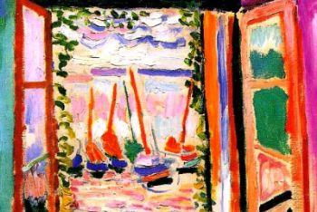 Henri Matisse, Finesta aperta (1905, particolare)