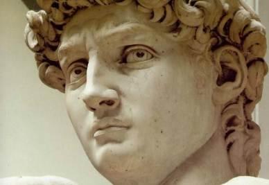 Michelangelo, David (1501, particolare; immagine d'archivio)