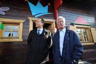 Mino D'Amato insieme al ministro Frattini