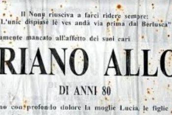 La foto del necrologio di Alloni - Dettaglio