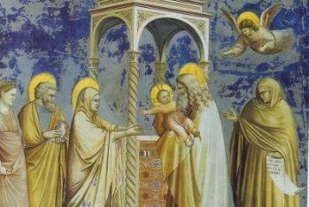 Giotto, Cappella degli Scrovegni, Presentazione di Gesù al tempio (1303-1305)