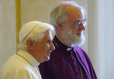 Il Papa con il primate della chiesa anglicana