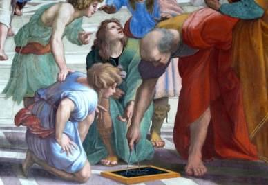 Raffaello, Scuola di Atene (1509-10, particolare; immagine d'archivio)