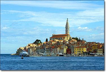 Un'immagine di Rovigno in Istria