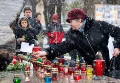 Durante il Giorno della memoria, a Mosca (immagine d'archivio)