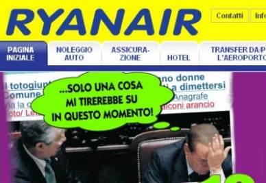 La pubblicità con Berlusconi
