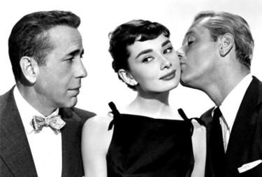 Humphrey Bogart e Audrey Hepburn in Sabrina