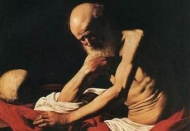 Il quadro di Sant'Agostino è stato paragonato al San Girolamo in meditazione di Caravaggio