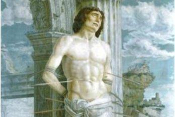 Andrea Mantegna, San Sebastiano (particolare)