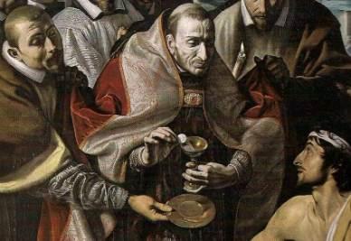 Tanzio da Varallo, San Carlo Borromeo comunica gli appestati (1616)