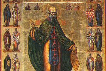 Un'icona che raffigura San Saba