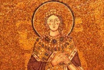 Mosaico di Santa Agnese, Basilica di Sant'Agnese fuori le mura a Roma (particolare)