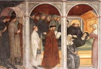 Ottaviano Nelli, Morte di Monica a Ostia (1410-20)
