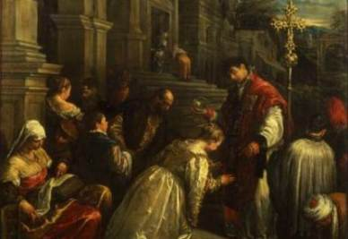 San Valentino battezza Santa Lucilla (particolare) - Jacopo Bassano