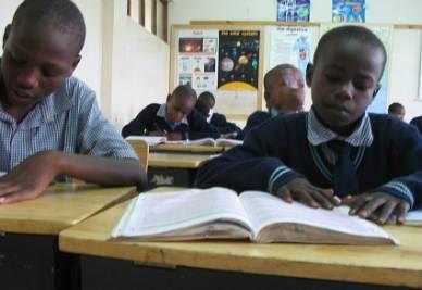 Nella scuola Little Prince a Nairobi, Kenya (immagine d'archivio)