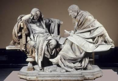 La statua di Nerone e Seneca