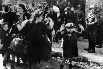Ebrei arrestati nel ghetto di Varsavia