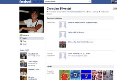 La home page di Christian Silvestri su Facebook
