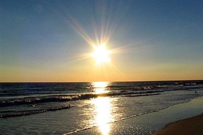 Il sole sul mare