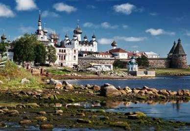Isole Solovki, veduta del complesso principale (Immagine d'archivio)