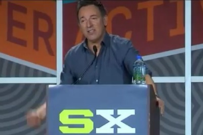 Springsteen giving his speech