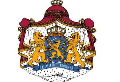 Lo stemma della Famiglia Reale Olandese - Immagine d'archivio