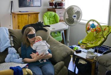 Chrissy Steltz con il figlio