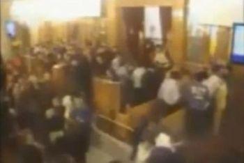 Un'immagine della Chiesa prima della strage