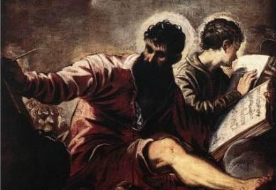 Tintoretto, Gli evangelisti Marco e Giovanni (1557, particolare; immagine d'archivio)