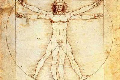 Leonardo da Vinci, L'uomo vitruviano, 1490
