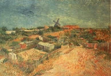 Vincent Van Gogh, Orti nel Montmartre, 1887