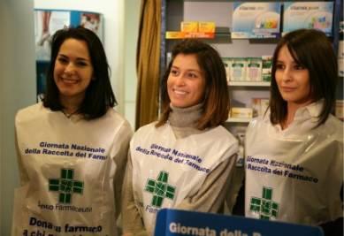 Volontarie della Giornata Nazionale di Raccolta del Farmaco
