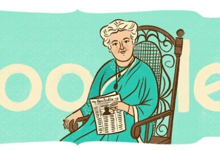 Annie Besant, doodle di Google (immagine dal web)