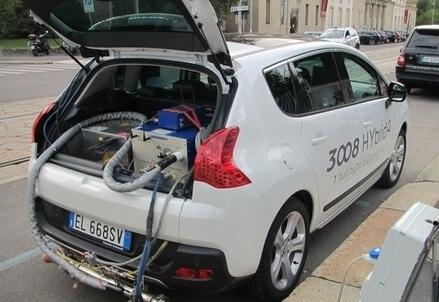 L'auto ibrida usata per i test