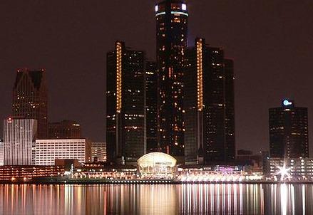 Lo skyline di Detroit