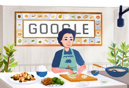 Fu Pei Mei, cuoca di Taiwan nel doodle di Google (immagine dal web)