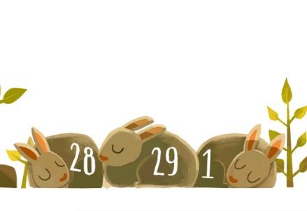 Anno Bisestile 2016, il Doodle di Google