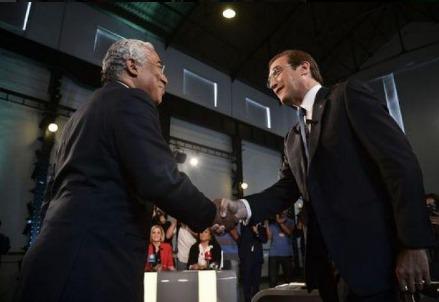 Antonio Costa e Pedro Passos Coelho, sfidanti alle Elezioni Portogallo 2015 (immagine da Twitter)