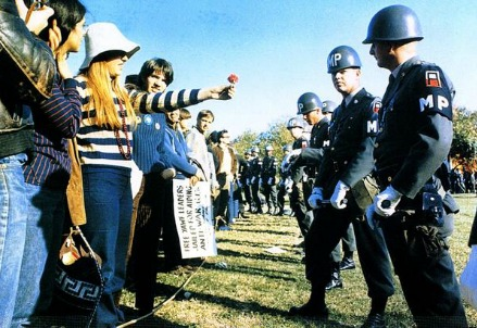 Anti-war protest of the 60's